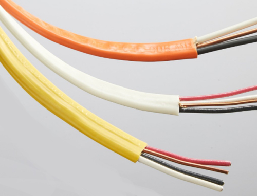 Electrical Cable White, Yellow and Orange Sheathing